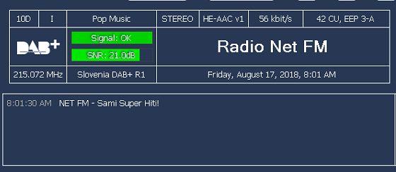 Vklop Radia Net FM